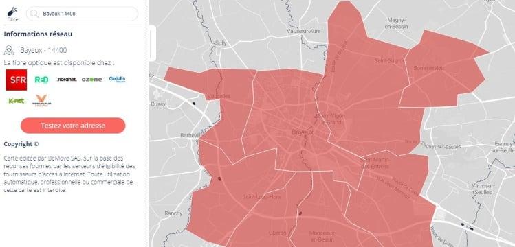Carte fibre : les offres SFR et RED disponibles à Bayeux et sa région