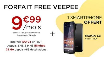 Vente privée Free avec smartphone offert