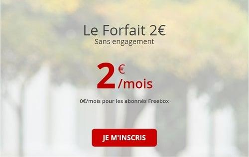 Le forfait Free à 2€/mois est un forfait mobile entée de gamme