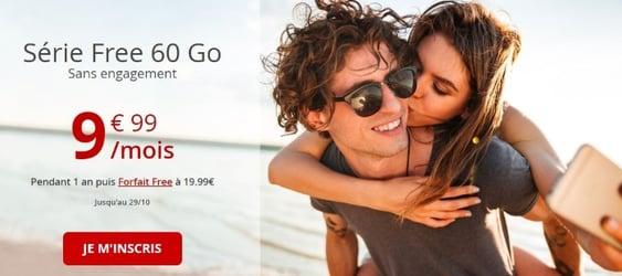 Free mobile : abonnement 4G en promotion