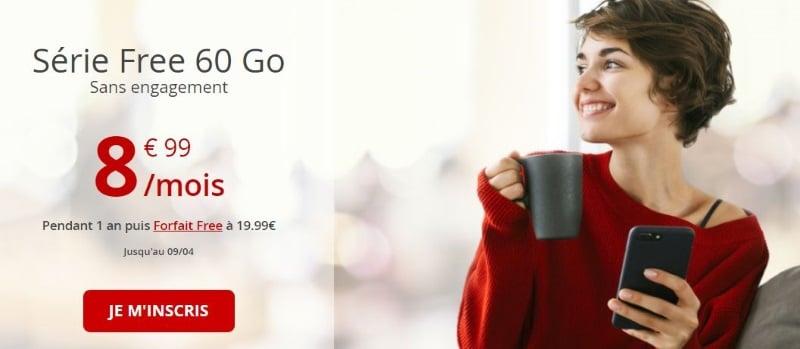 Bon plan forfait mobile : la Série Free à 8,99 euros par mois