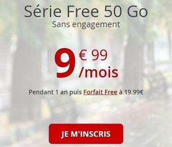 La série Free 50 Go est 10€/mois pendant un an.
