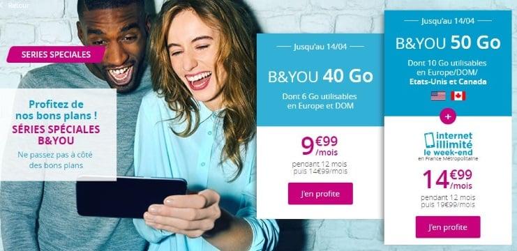 Jusqu'au 14 avril 2019 : deux forfaits en promotion chez Bouygues Telecom