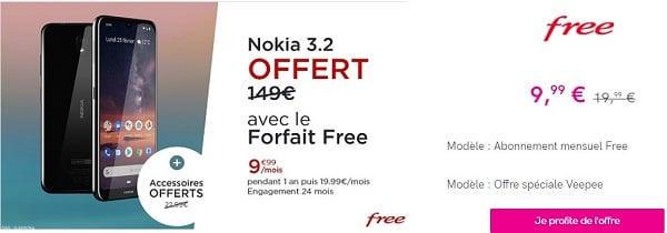 Vente privée Free sur le forfait Free 100 Go