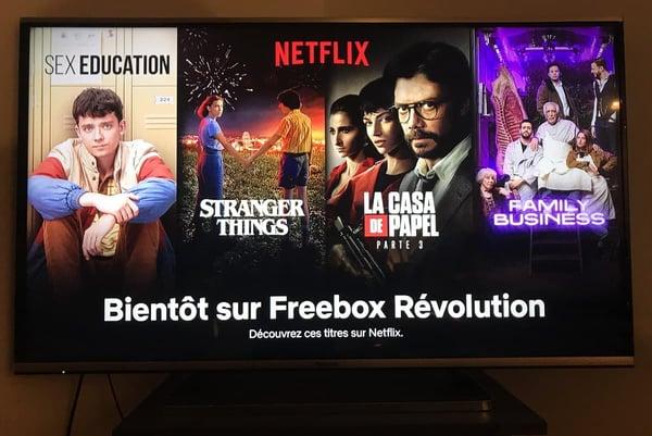 Netflix disponible sur la Freebox Révolution