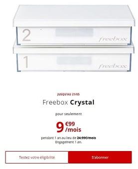 Offre Internet Free ADSL : Freebox Crystal