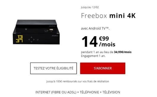 Box Internet pas cher : la Freebox Mini 4K en promotion la première année