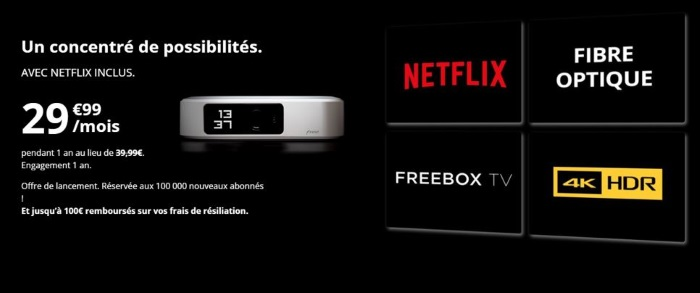 Box avec Netflix : la Freebox One en promotion