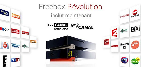 La TV By Canal incluse avec la Freebox Revolution