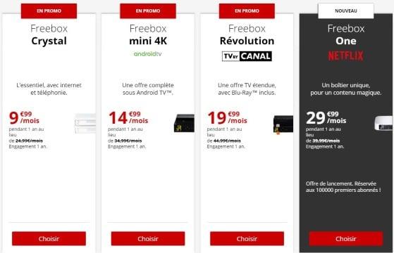 Offres Internet Free : les abonnement Freebox en promotion