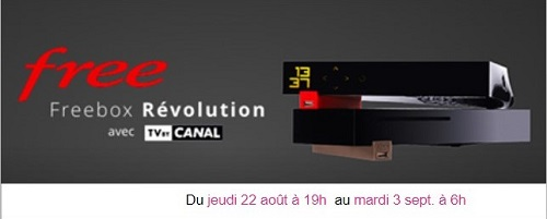 Free lance une vente privée sur Veepee avec la Freebox Révolution à 9,99€/mois.