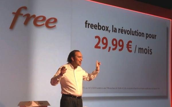 xavier Niel annonce la prix de la Freebox
