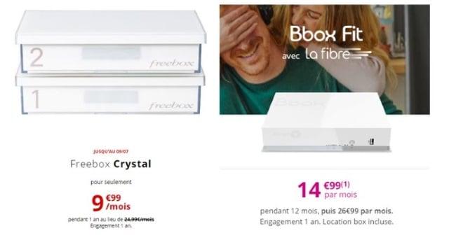 Quelle box Internet choisir ? Freebox Crystal de Free vs Bbox Fit de Bouygues
