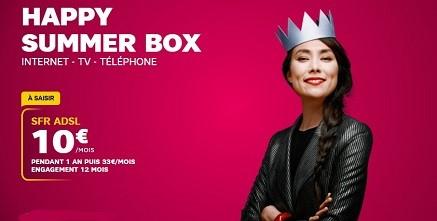 Avec la Happy Summer box, il est possible d'avoir un forfait mobile à un tarif avantageux