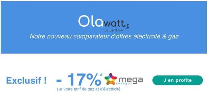 Vente privee Olawatt : offre promo électricité et gaz