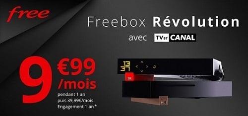 Avec la vente privée Free, la Freebox Révolution est à seulement 9,99€/mois.