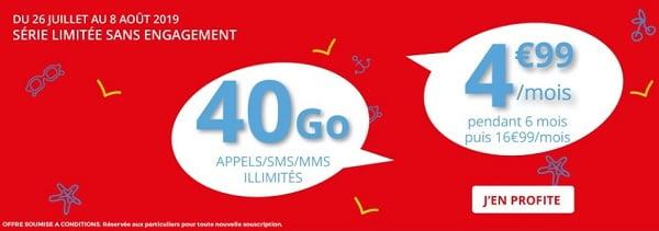 La série limitée 40 Go d'Auchan Télécom dure jusqu'au 8 août