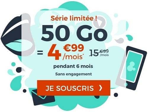 la série limitée 50 Go de Cdiscount Mobile dure jusqu'au 9 août