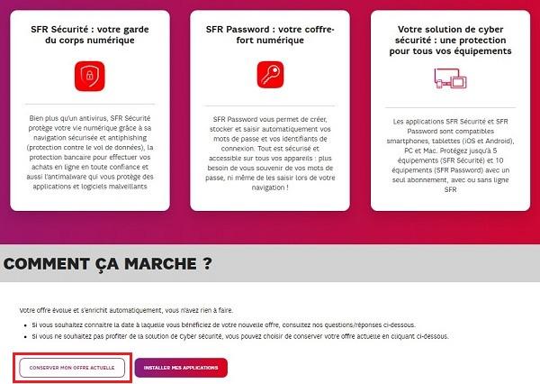 Votre forfait mobile ou abonnement box RED évolue mais, il est possible de conserver son offre actuelle