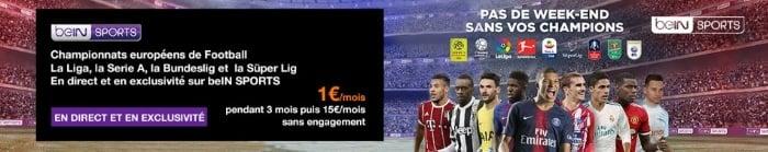 BeIN Sport pas cher avec les offres Internet Orange
