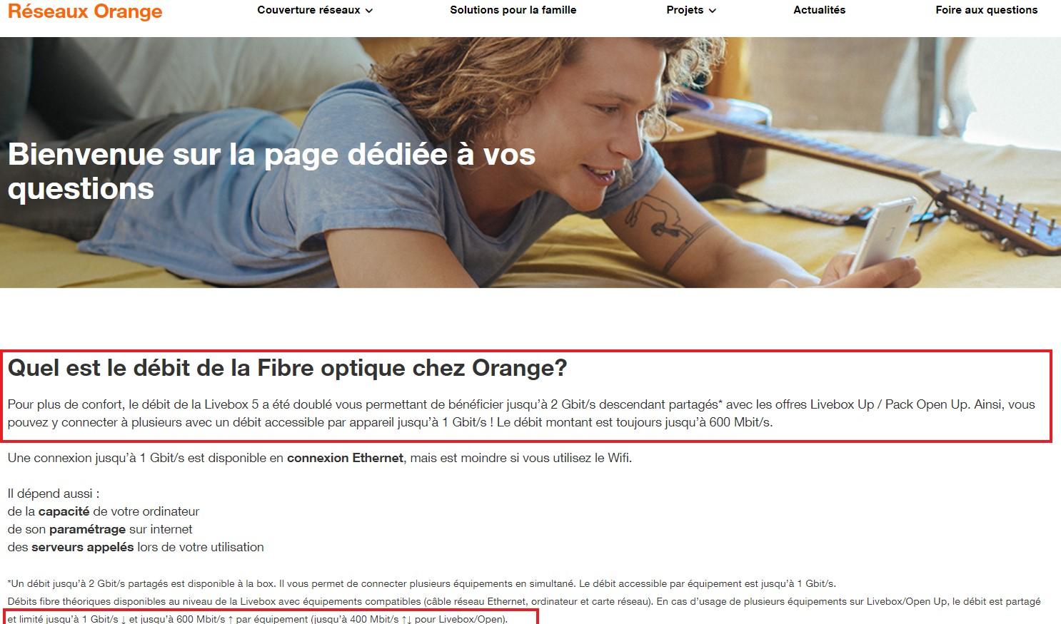 Nouvelle livebox : boost de débit sur les offres orange fibre