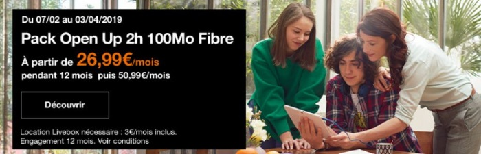 Fibre Orange : les abonnements Internet + mobile Open en promotion