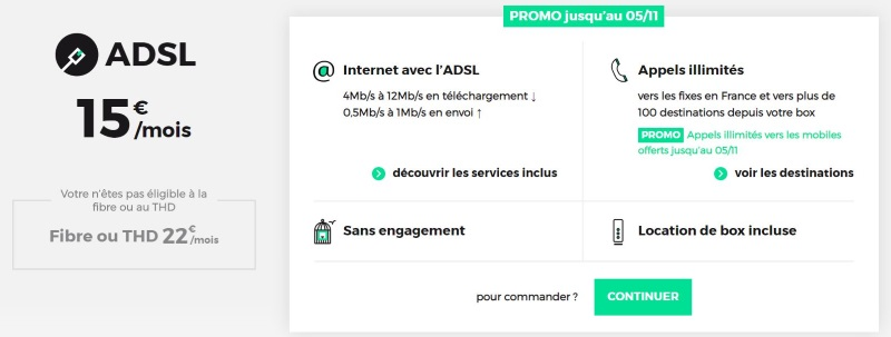 Internet pas cher : l'offre RED ADSL pour l'automne 2019