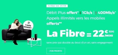Offre Internet fibre RED en promotion