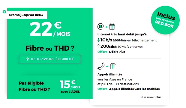 Box Internet RED : en promotion jusqu'au 18 mars