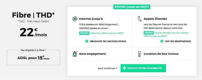 Internet en promotion chez RED en juillet 2019 avec les options Débit plus et appels illimités vers les mobiles