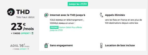 Le forfait internet Red Box THD passe à 23 euros à partir du 21 janvier 2020