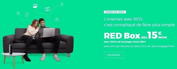 La RED box est à partir de 15€/mois
