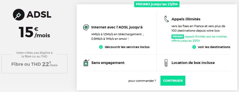 RED Box ADSL : l'offre sans engagement de RED by SFR