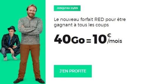 Forfait Red ou Bouygues Telecom pour 40 Go à 10 euros par mois
