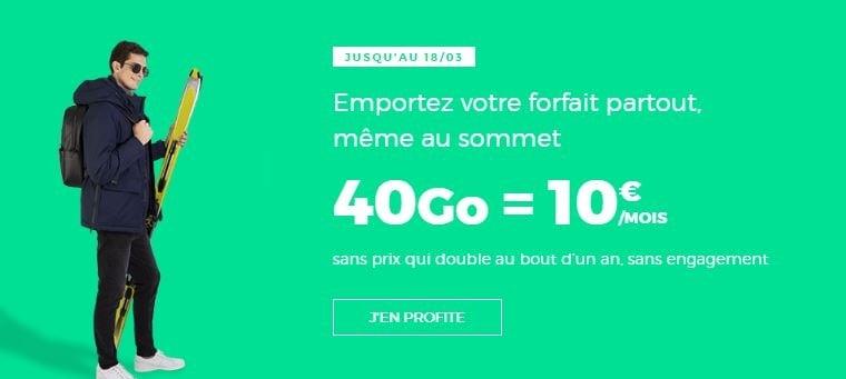Forfait pas cher : RED et son offre 40 Go à 10 euros par mois