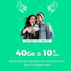 Forfait mobile : l'abonnement RED 40 Go en promotion