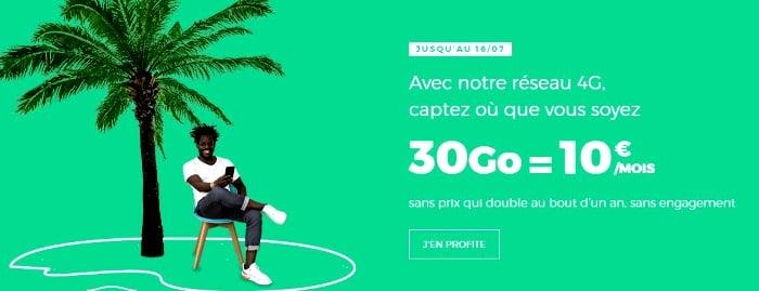 Profiter du  forfait mobile RED 30 Go à tarif réduit