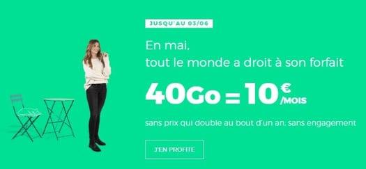 Forfait mobile à petit prix : RED 40 Go à 10 euros par mois