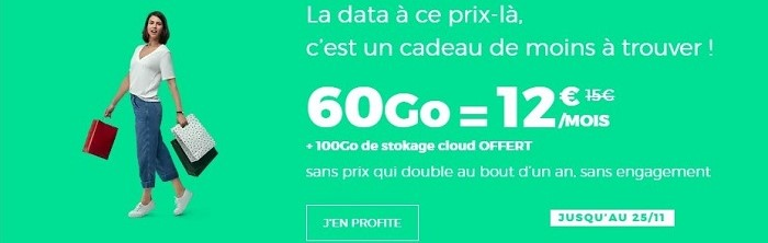Bon plan mobile : le forfait RED 60 Go est à 12€/mois à vie jusqu'au 25 novembre