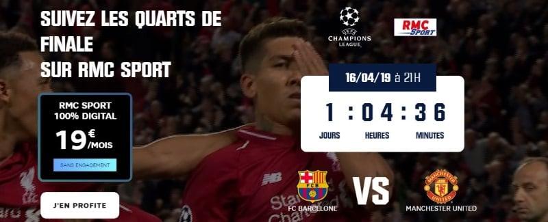 Regarder Barcelone-Manchester : l'abonnement RMC Sport