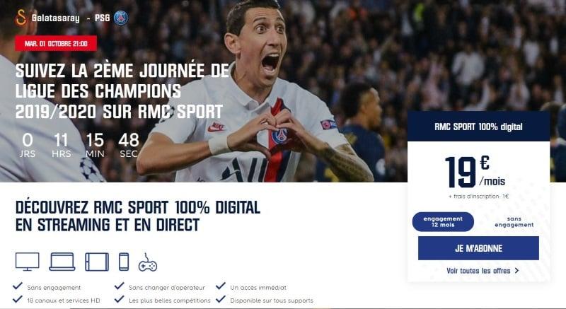 PSG Galatsaray sur quelle chaîne mardi 1er octobre en Ligue des Champions ?