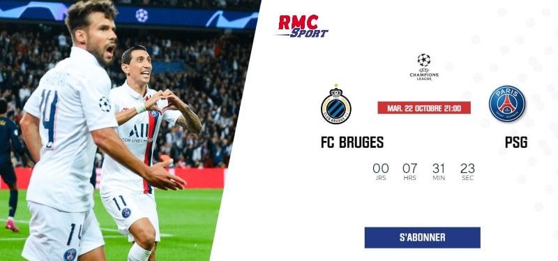 Ligue des Champions : PSG Bruges sur RMC Sport le 6 novembre 2019