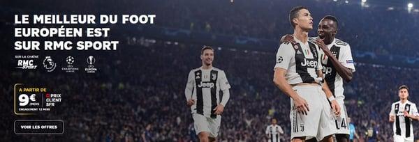 Lyon Juventus est disponible en exclusivité sur la chaîne RMC Sport