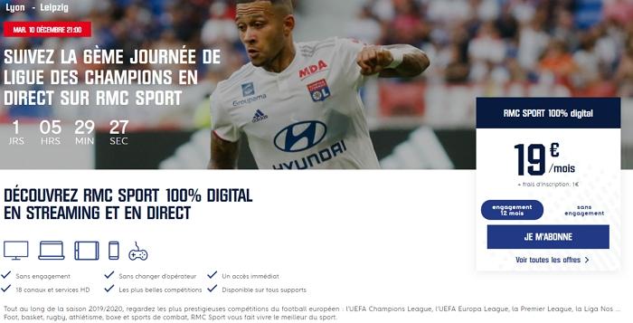 S'abonner à RMC Sport 100% Digital
