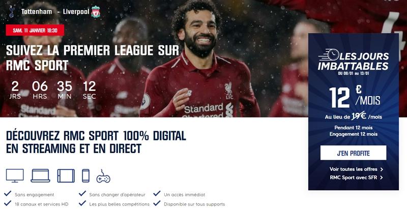 Souscrire la promo RMC Sport à 12 euros par mois pour les soldes 2020