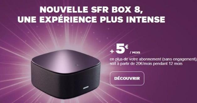 Box 8 SFR en option avec un abonnement Internet en promo