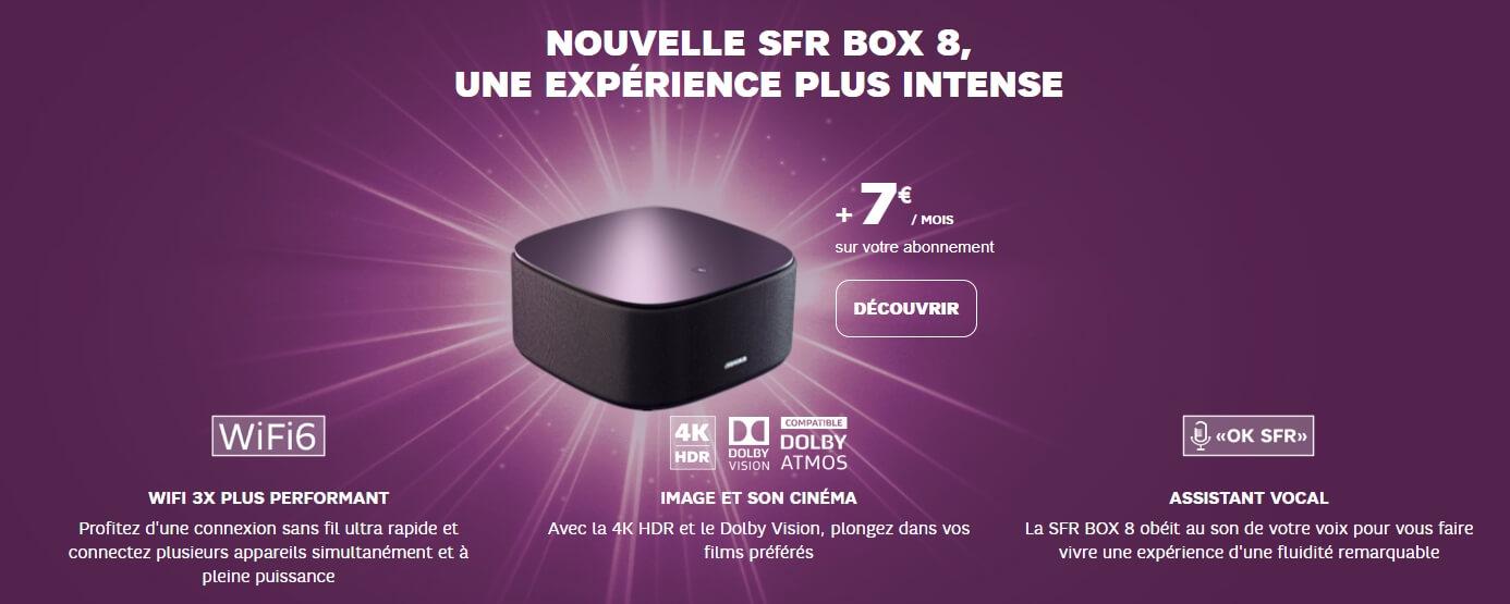 Prix et détails de la SFR Box 8 pour avoir jusqu'à 2 Gb/s en fibre