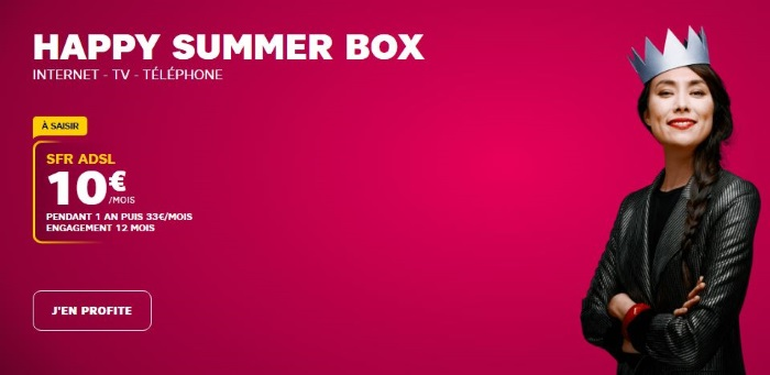 Box internet en promo en juillet 2019 : la Happy Summer box de S