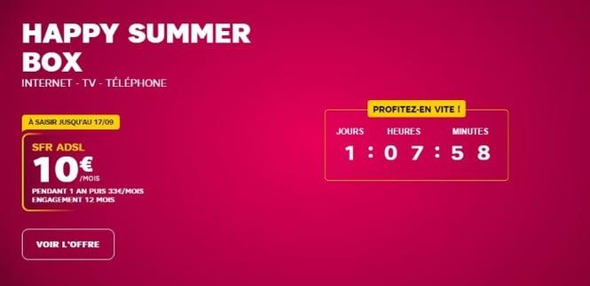 Promo Internet SFR pour la rentrée 2019 : plus que quelques heures pour en profiter