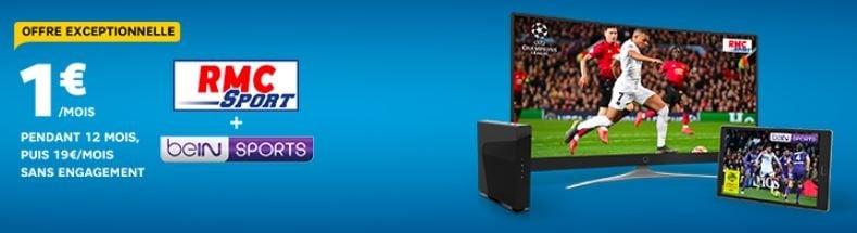 Box Internet SFR : RMC Sport et BeIN Sports en promo